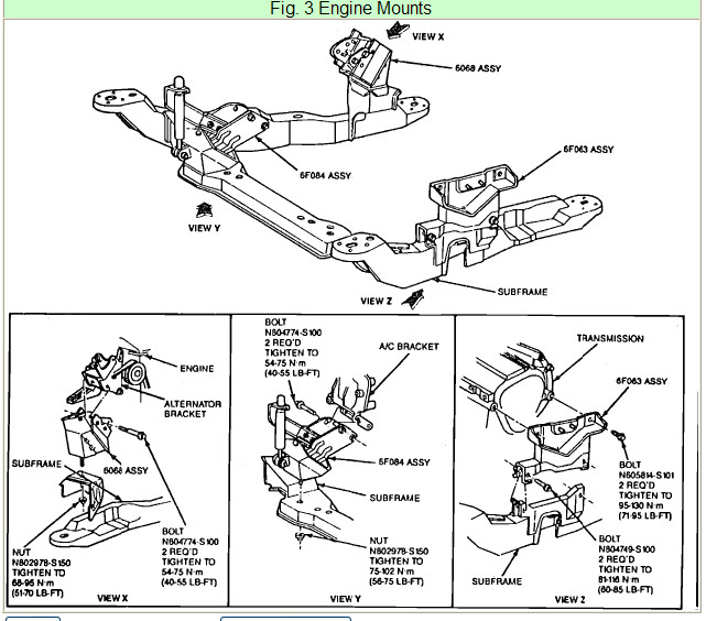 1999 Mercury Tracer Belt Diagram