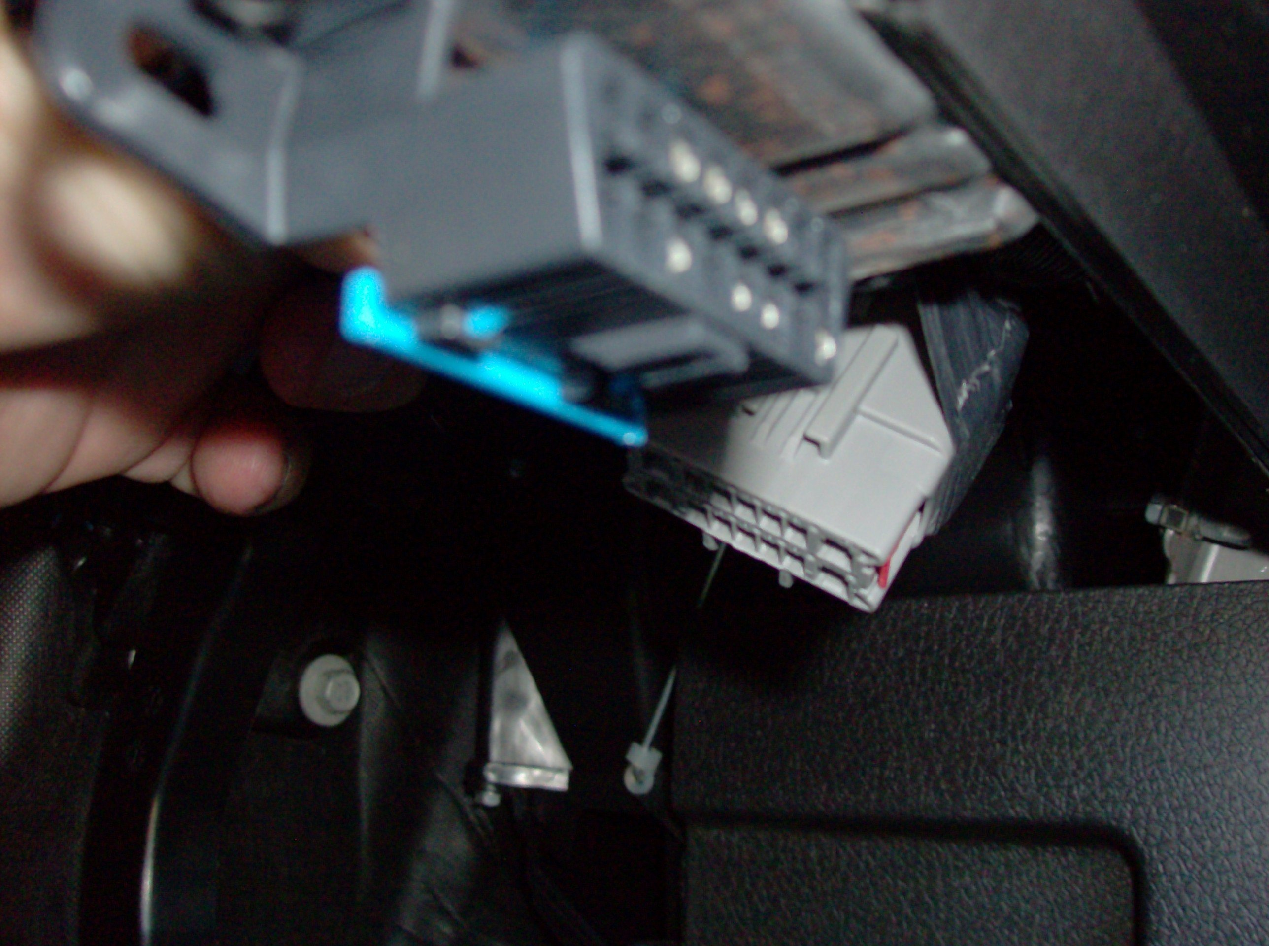 2010 F150 One Loosely Under Dash That Looksharnessconnectorsnap Ford F 150 Trailer Brake Wiring Diagram The Factory Sends Truck With A Plug In To This Connector Open Pigtail Leads Is What You Connect Controller