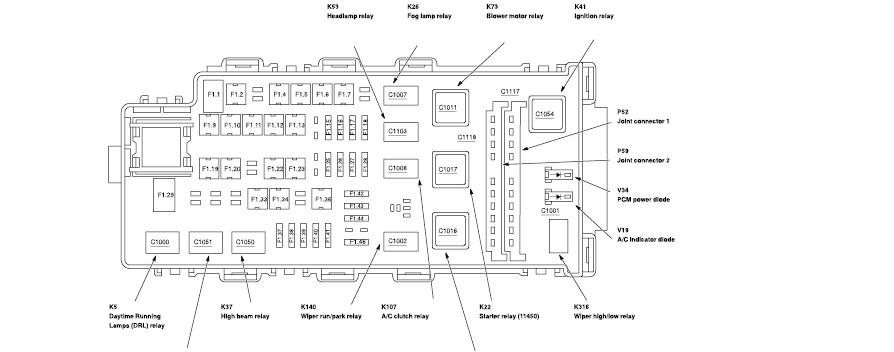 02 ford ranger fuse box  | 736 x 610