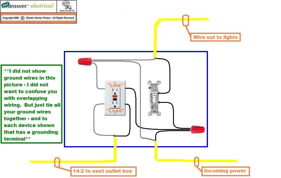 2009 09 12_015650_Customer_garage_wiring how do i connect a gfci outlet to a single pole light switch? wiring diagram for switched outlet at panicattacktreatment.co