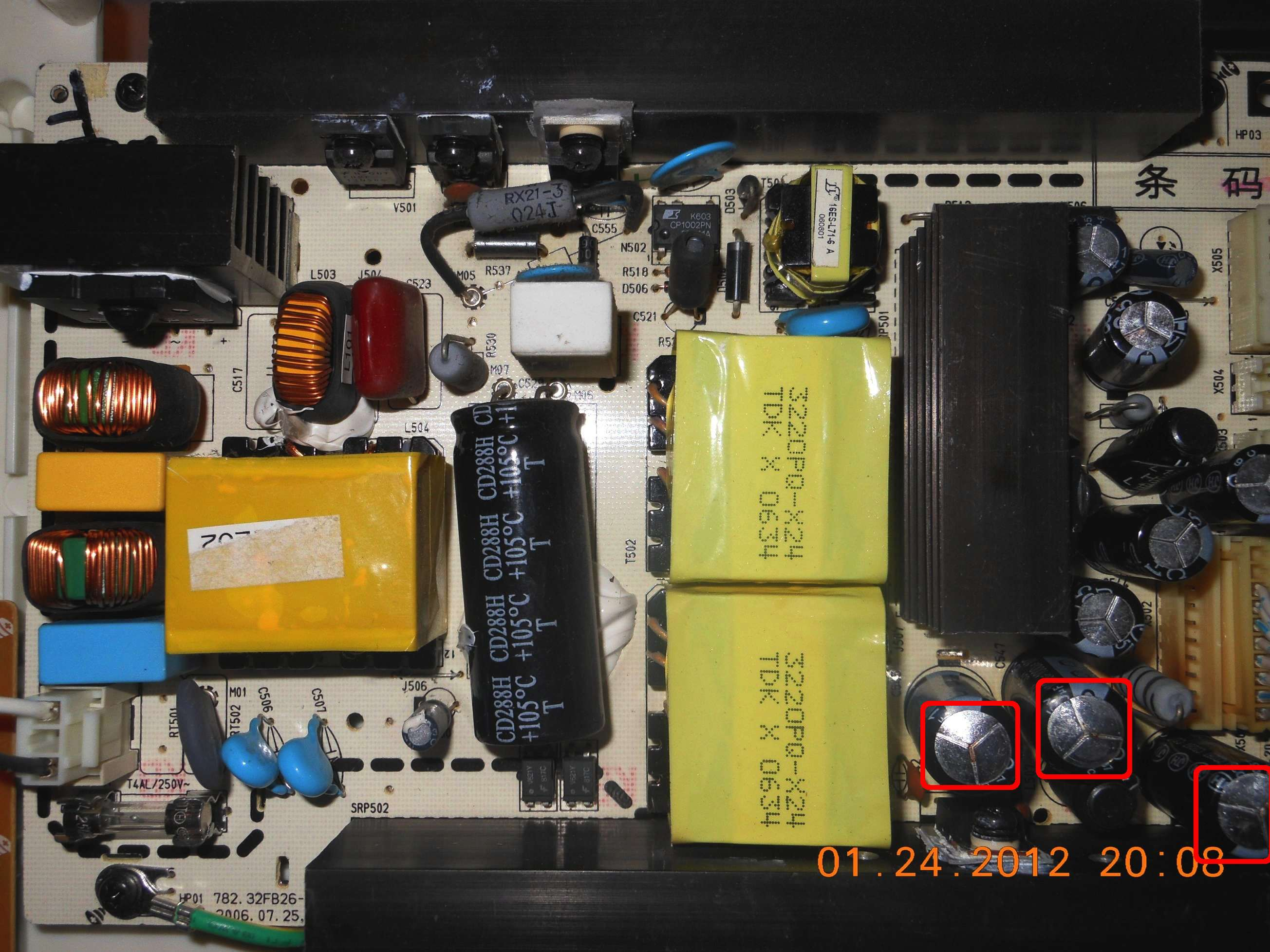 Have insignia NS-32LCD flickering really fast  a power supply
