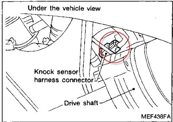 on Engine Knock Sensor Location