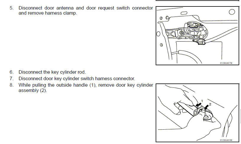 I Am Trying To Replace The Outside Door Handle On My 2008