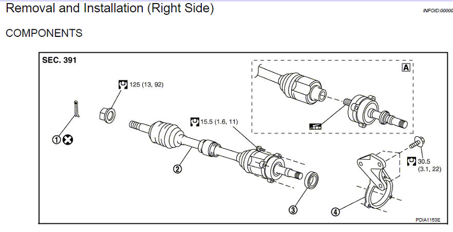 1999 mazda mx 5 drive shaft removal instructions