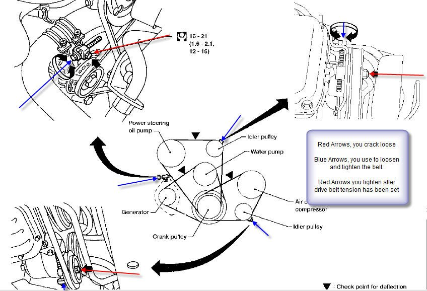 ford 7 3 belt routing diagram
