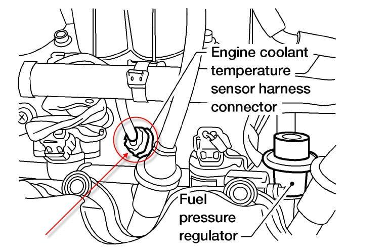 replaced knock sensor  then engine coolant sensor  and