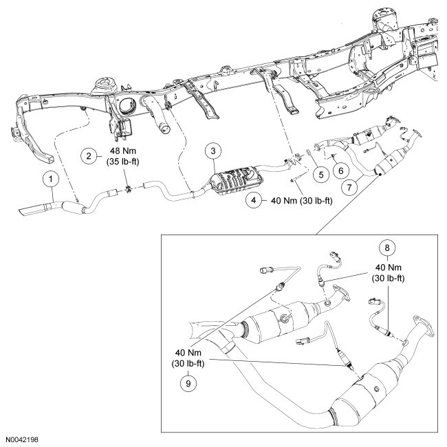 have a 2006 ford explorer xlt need to replace exhaust from muffler 1994 Explorer Fuel System Diagram full size image
