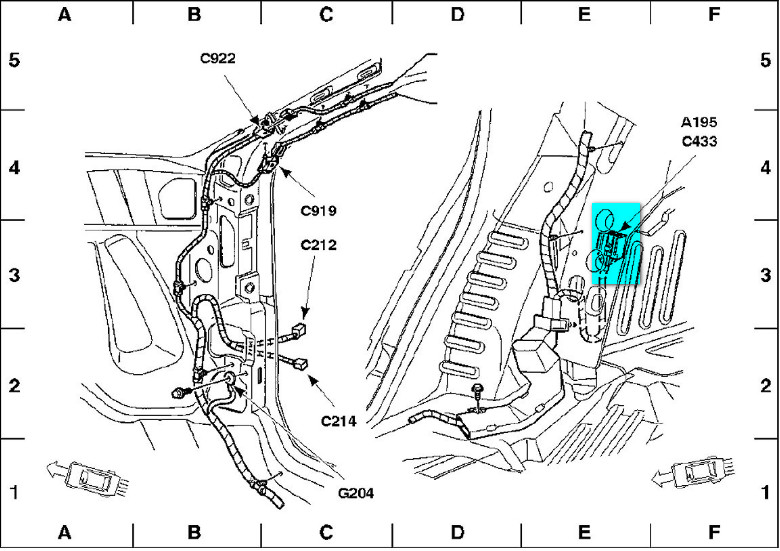 diagram of ford taurus engine