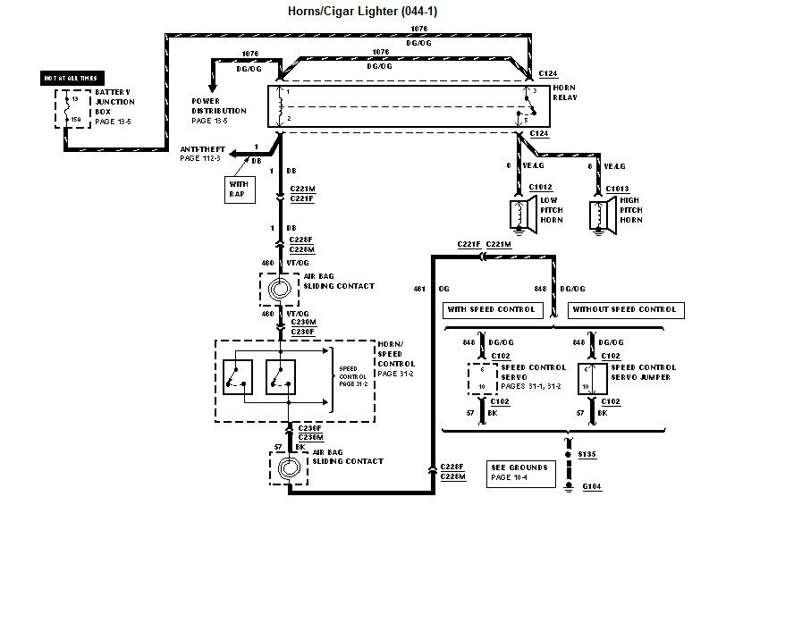 2013 02 28_204337_a1 location and diagnostics for horn relay on a 99 taurus 99 ford taurus wiring diagram at bayanpartner.co