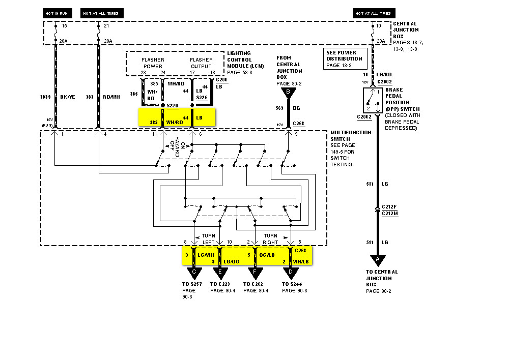 1995 97 Chevrolet Lumina Car Fuel Pump Wiring Diagram likewise Veracruz Wiring Diagram besides 6l5en Dodge 1500 Airbag Sensor 1996 Dodge 1500 together with 91 Honda Accord Transmission Diagram together with 15al3 Infiniti Qx4 Interior Fuse Box The Passenger  partment. on lincoln town car wiring diagram