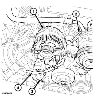 on a 5 7 l hemi the heater hose connects to a tube at the back of rh justanswer com 1994 Dodge Ram 1500 Engine Diagram 2010 Dodge Ram 1500 Engine Front Main Oil Seal