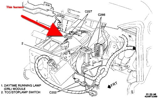 5ce3l 96 Gmc Sierra 1500 Brake Lights Lights Work Switches The Pedal on 97 Chevy Truck Wiring Diagram