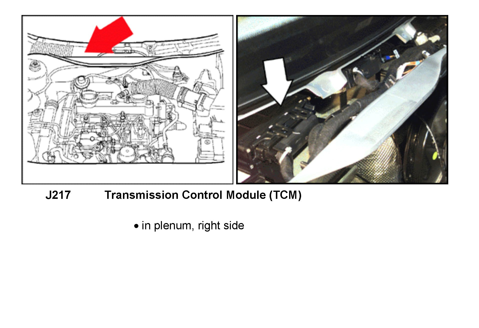 where is the transmission control module tcm located on a 2002 rh justanswer com
