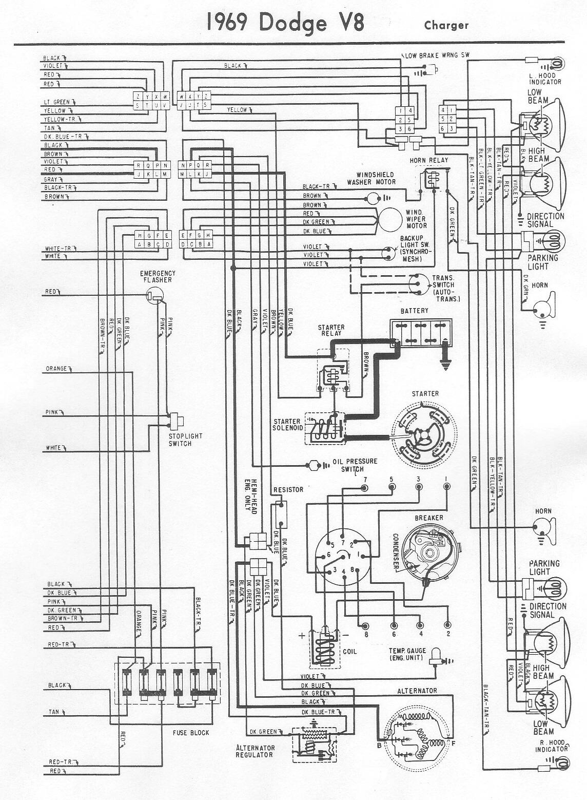 i have no spark on my 1969 dodge charger 1970 plymouth turn signal wiring diagram 2000 impala turn signal wiring diagram #12