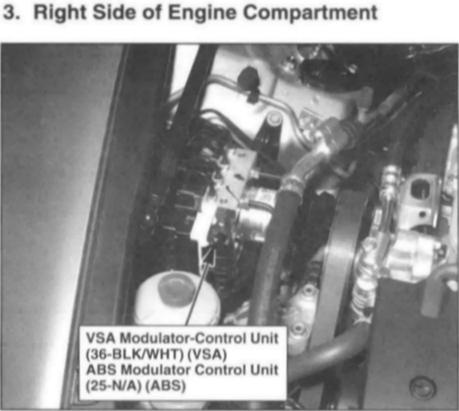 I have a 2008 Accord CDTi and need to replace the VSA module, would you happen to know where it ...