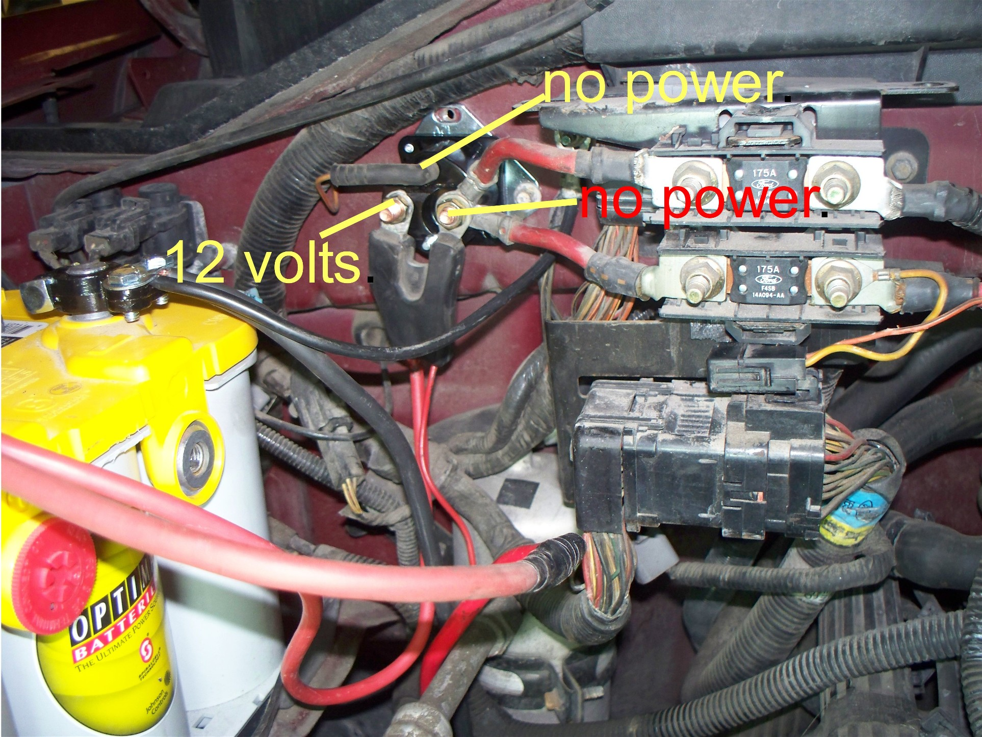 1998 Ford Expedition Engine Firewall Diagram Wiring Libraries Peterbilt 379 Starter Get Free Image About 97 F 150 Cables That Were Melted And The Mounted Solenoidonly Red One Has