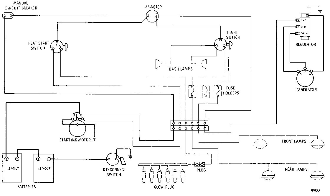 D Charging System on Starter Generator Wiring Diagram
