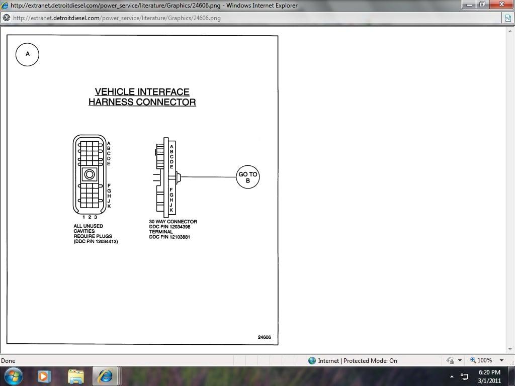 Series 60 Ddec Ii Engine Sensor Harness Detroit Diesel 6 Wiring Diagram 1996 Freightliner