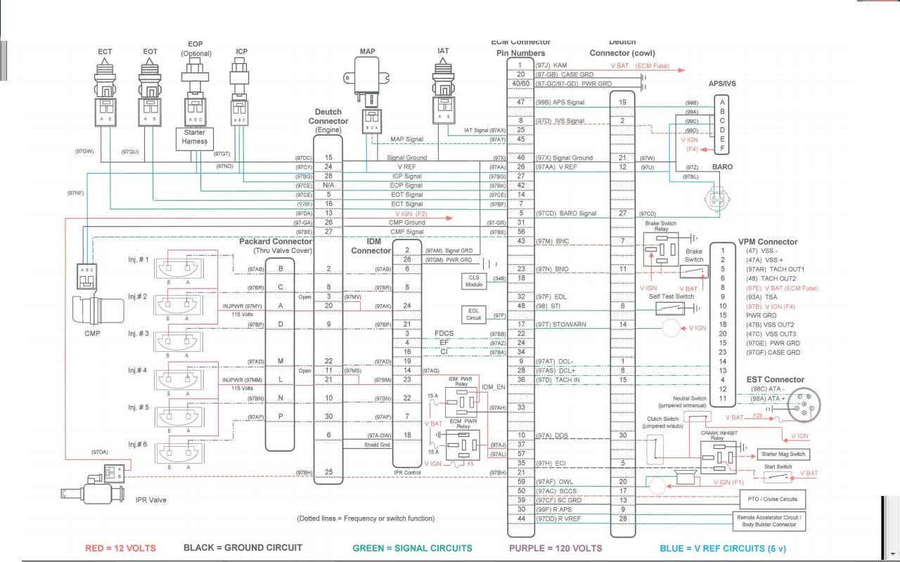 2000 International 3800 Series Wiring Diagram Will 1986 Buick Engine Schematic I Have A 2001 4700 With Dt466e That 9900i