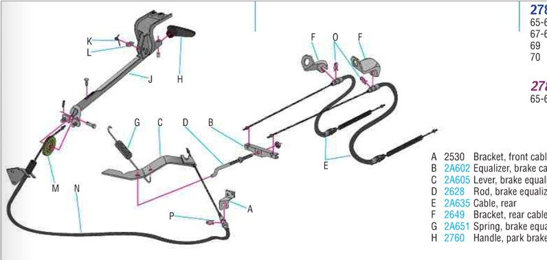 i have a 67 mustang coupe and have had to build the parking brake rh justanswer com 1995 Mustang Brake Line Diagram 67 mustang parking brake diagram