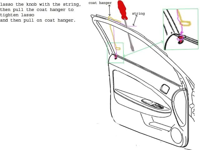 Need help unlocking 2010 ford fusion door? Car running with key ...
