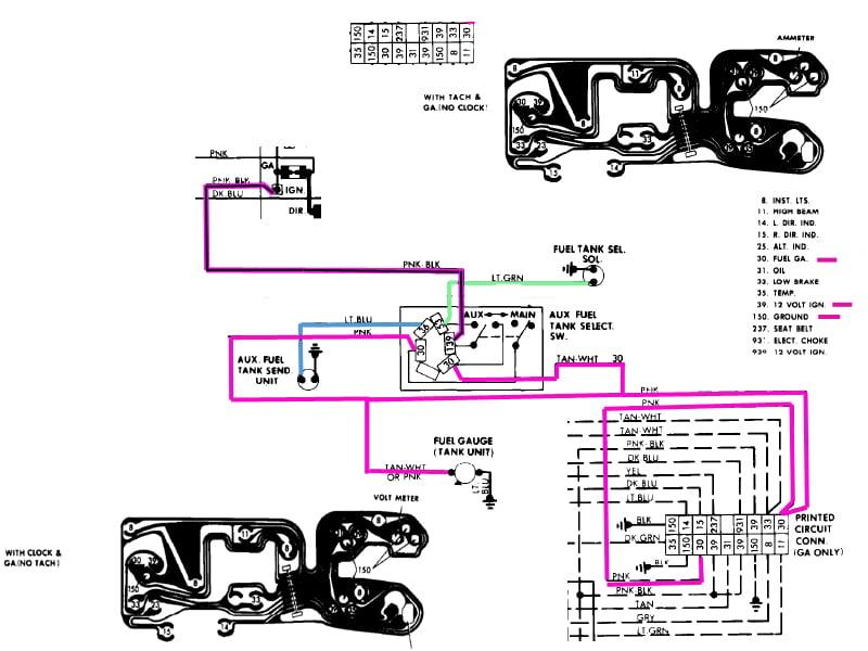 1986 chevy truck fuel gauge wiring 34 wiring diagram Chevrolet Venture Fuel Tank Chevy Suburban Fuel Tank Capacity