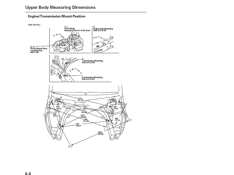 Trying To Get The Underhood Measurements For 2011 Honda