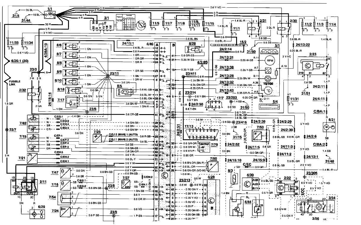 Wiring Diagram Volvo 850 Turbo : Volvo voltage diagram wiring images