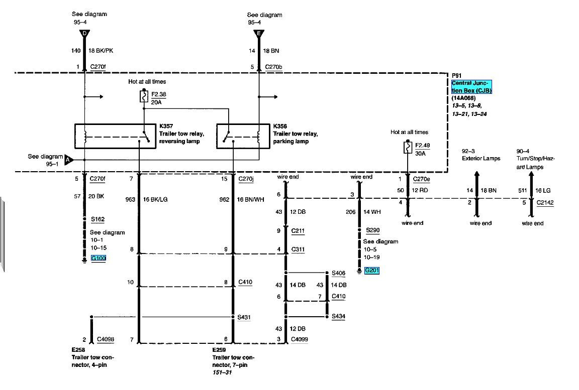 I Need The Wiring Diagram For A F350 Super Duty Canadian So I Can Install A New Trailer Plug