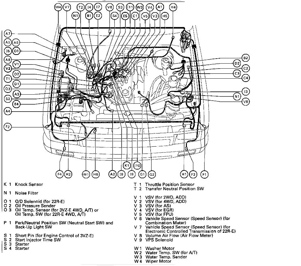 91 toyota pickup engine diagram 1993 toyota pickup engine diagram after washing the 4 cyl engine of a 1993 toyota tacoma 4x4 ... #10