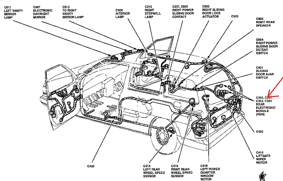 Electrical Wiring Diagram Module : Windstar right rear brakelight not working where is