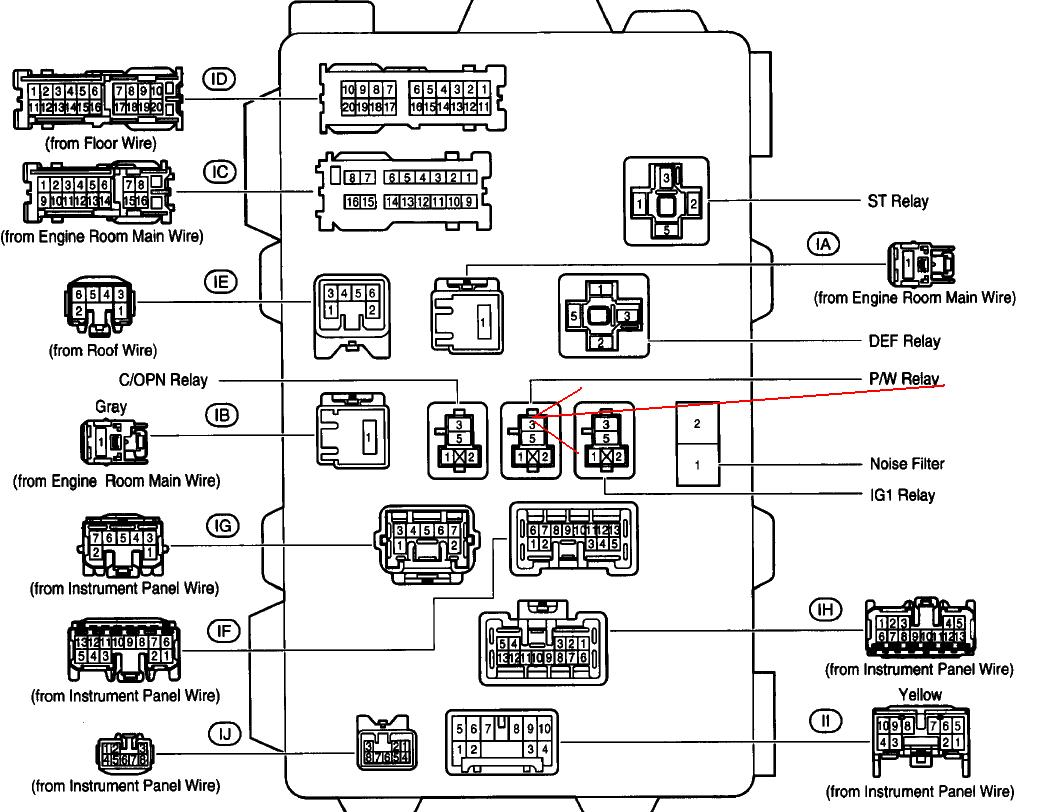 toyota matrix fuse box diagram i have a 2003 toyota matrix xrs and none of the windows or ...