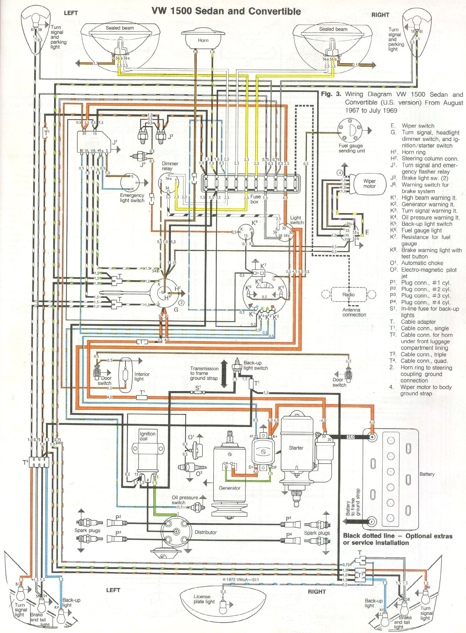 Bug on 69 Vw Beetle Wiring Diagram