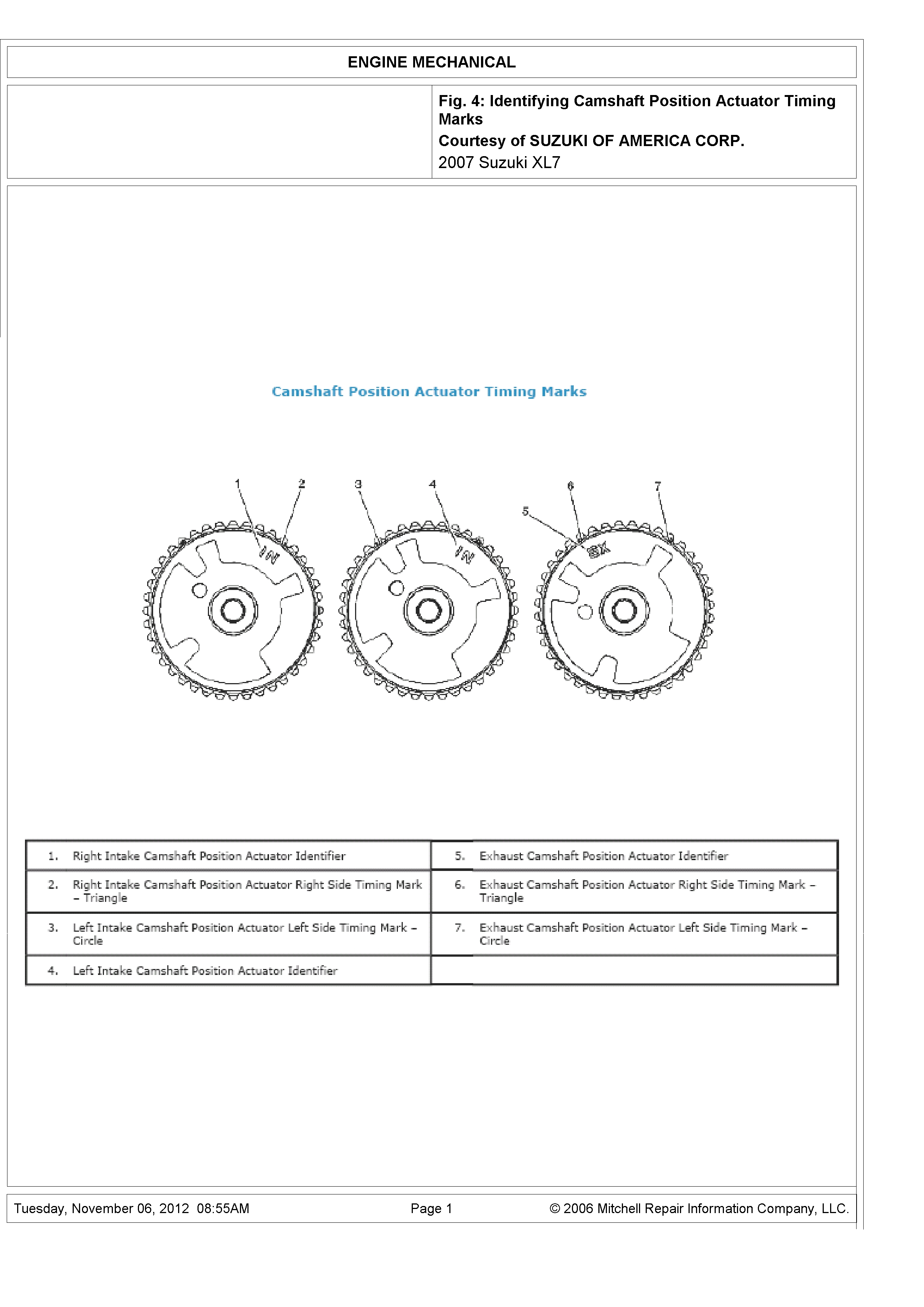I Need A Timing Chain Setup Diagram For 6 Cyl 2006 Holden Caprice Subaru 2 Engine Graphic