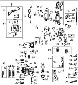 I need a diagram for hose embly on bissell 9200 steam vac Bissell Proheat X Schematic Diagram on