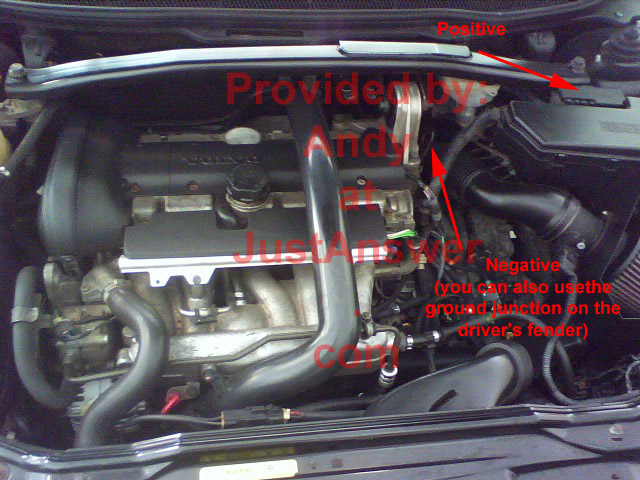 volvo s60 battery is completely dead  any emergency trunk