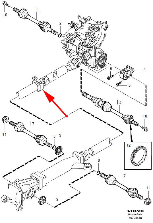 Volvo Xc90 Parts Diagram Drive Shaft: Differential Diagram 1998 Volvo V70 At Ariaseda.org