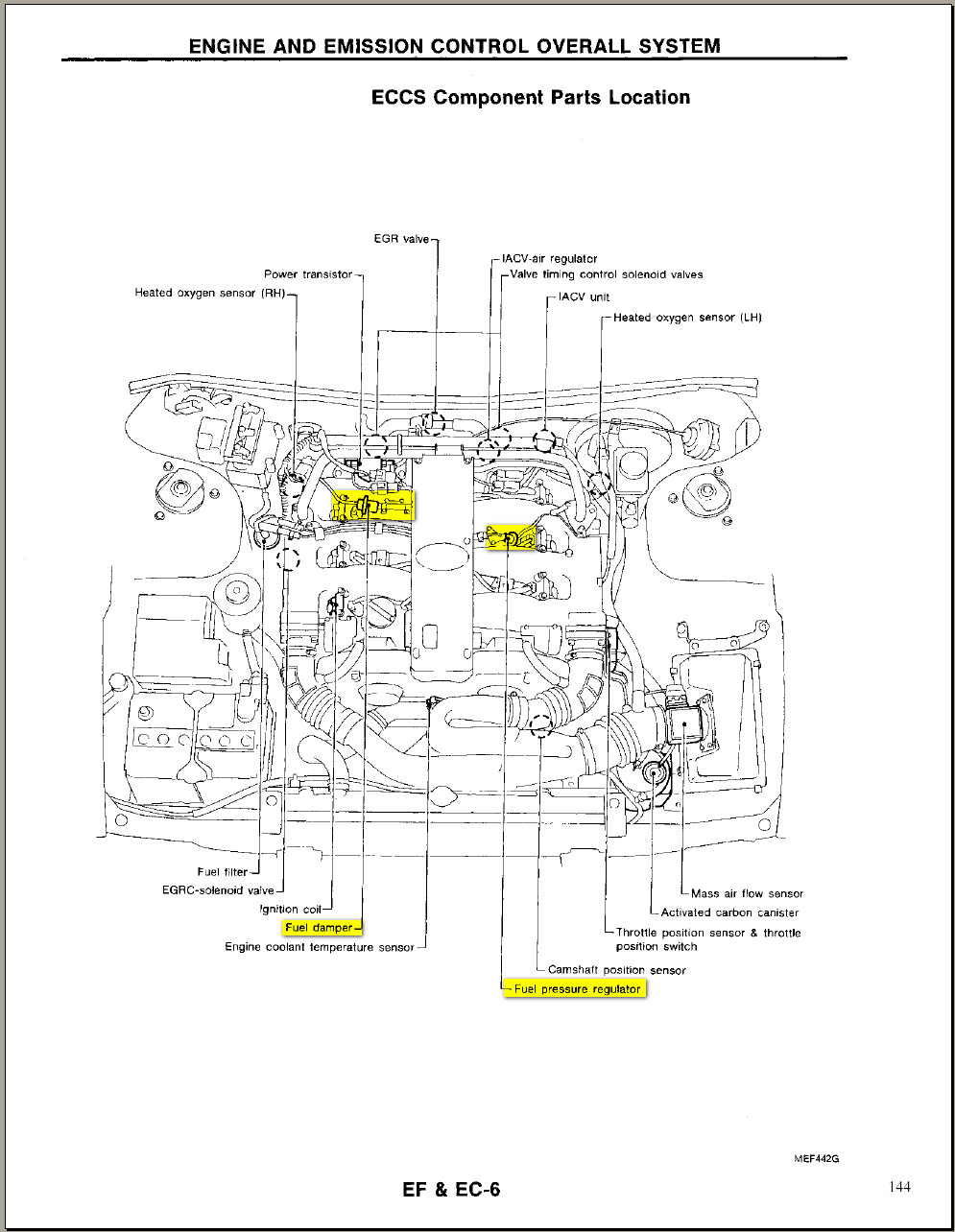 1993 Toyota Paseo Engine Diagram Hose For Infiniti J30 Electrical Wiring Fuel Injector U2022 T100