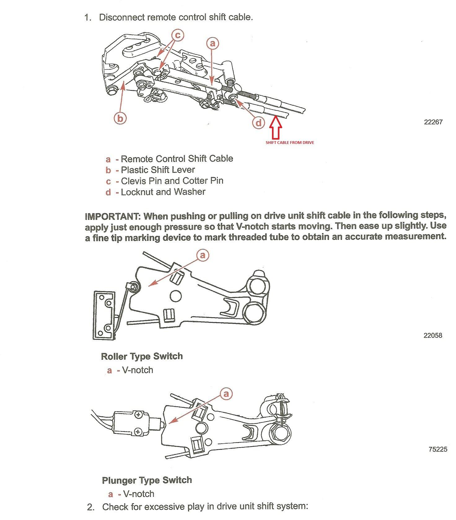 34 Mercruiser Shift Cable Adjustment Diagram