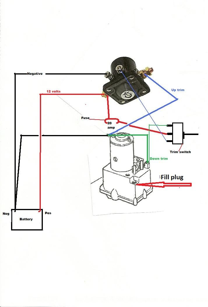need to find the manual release valve on outboard motor to be able rh justanswer com Mercruiser Trim Sender Mercruiser Fuel Pump