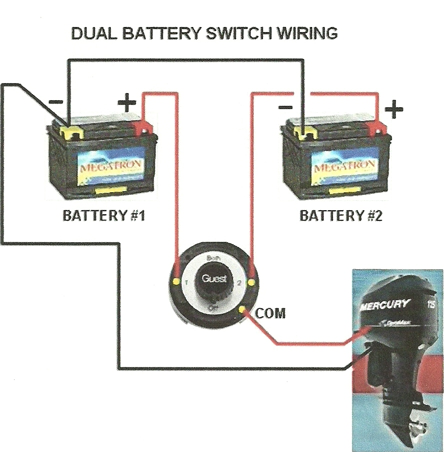 looking for advice on wiring a dual switch on a 50 hp merc i've ranger dual battery wiring diagram two battery boat wiring diagram #12