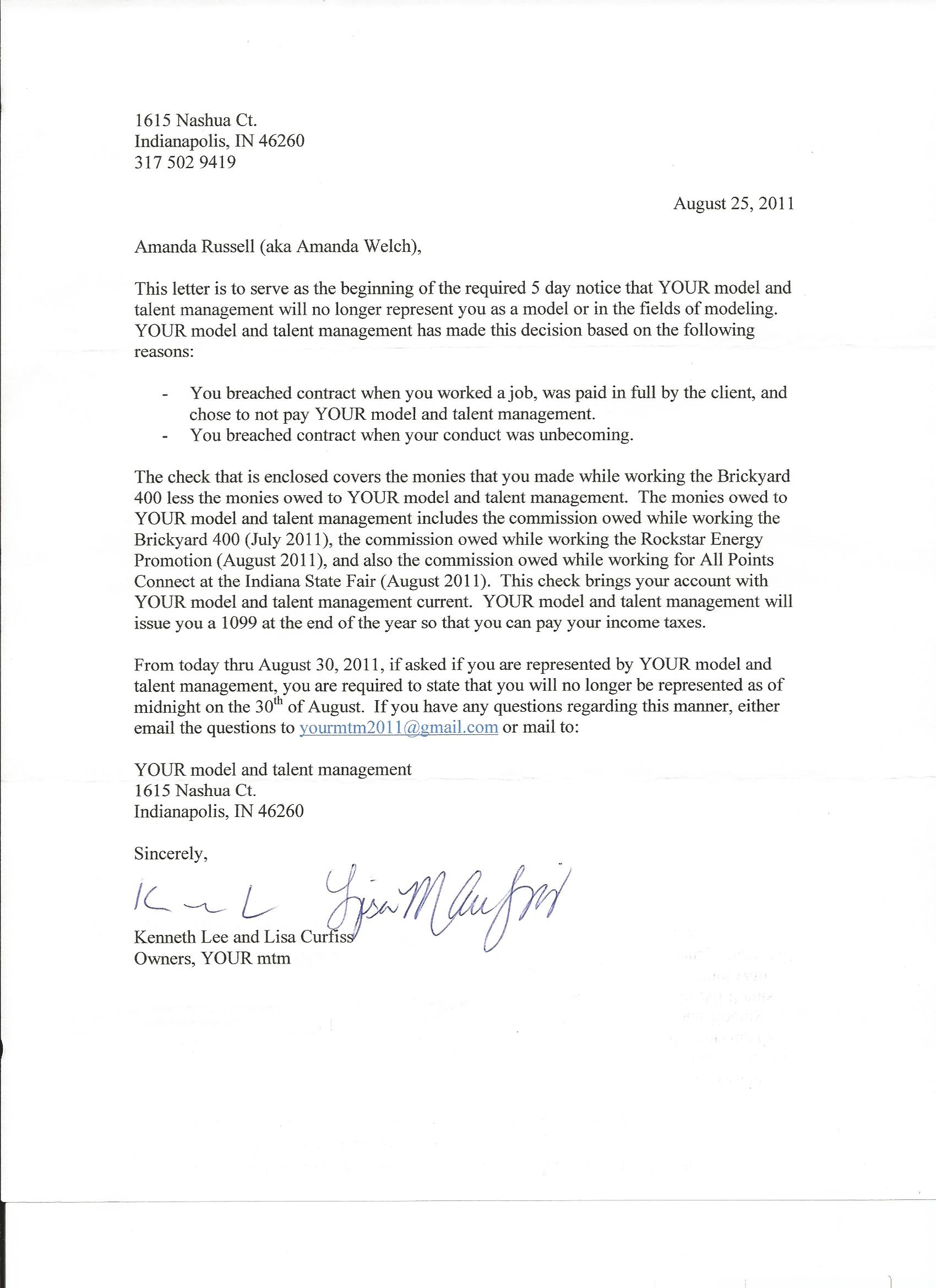 cancel contract letter