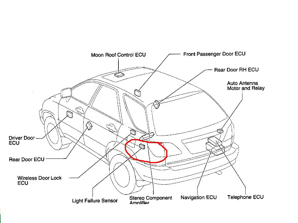 light failure sensor lexus rx300