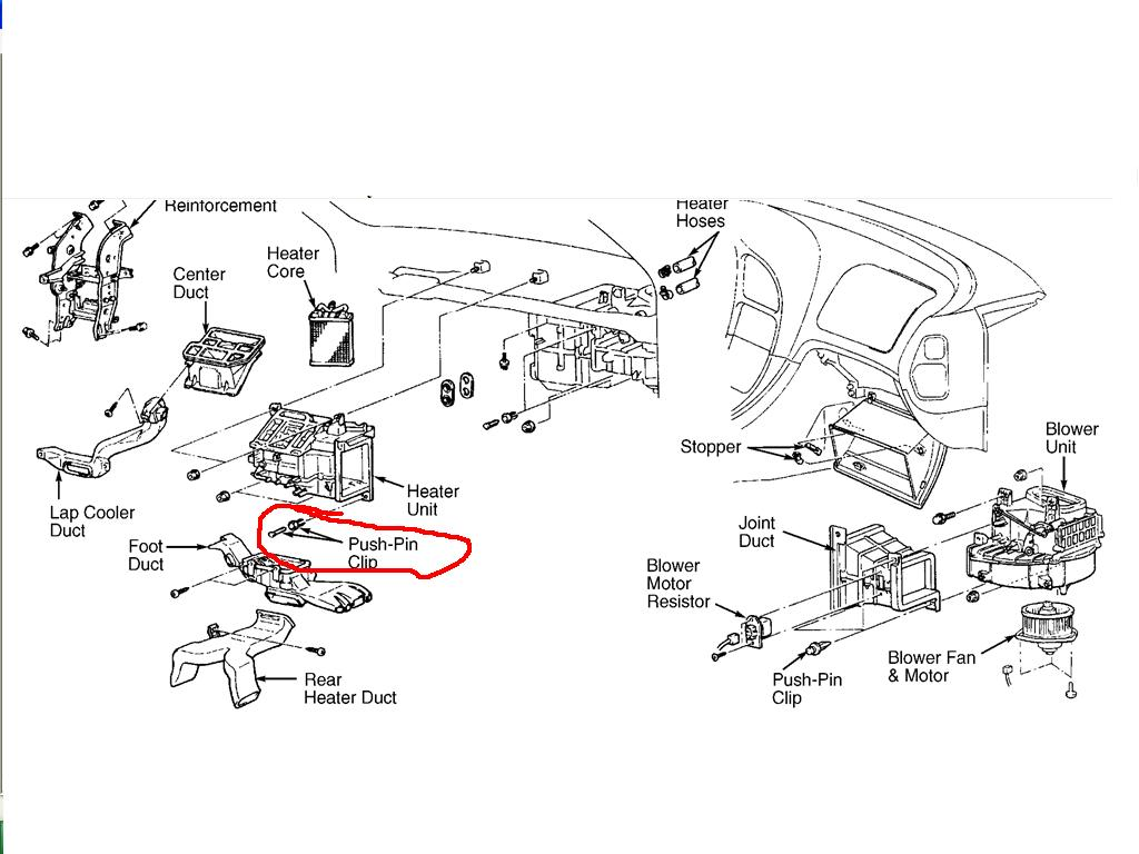 45bvv 01 Mitsubishi Eclipse Heater Core Cooler Firewall There Nuts on 2005 Mitsubishi Endeavor Parts Diagram