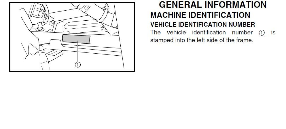 yamaha serial number location
