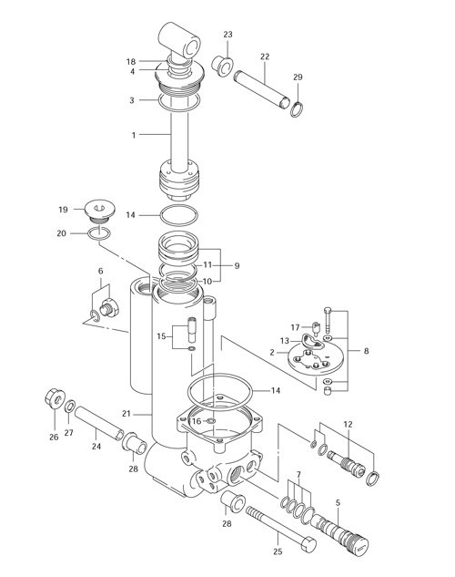 suzuki df50 outboard wont raise out of the water moves a little but 2014 Suzuki GSX-R 1000 12 on the parts drawing is the manual relief valve turn it a couple of turns out to release and manually pull up on the lower unit thanks