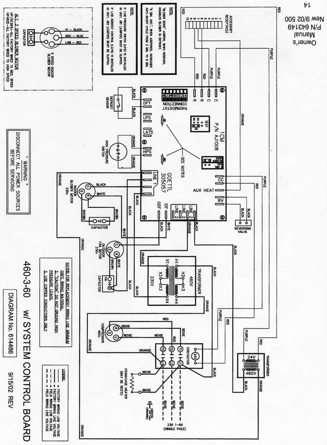 goettl heat pump  wiring and troubleshooting  i need a