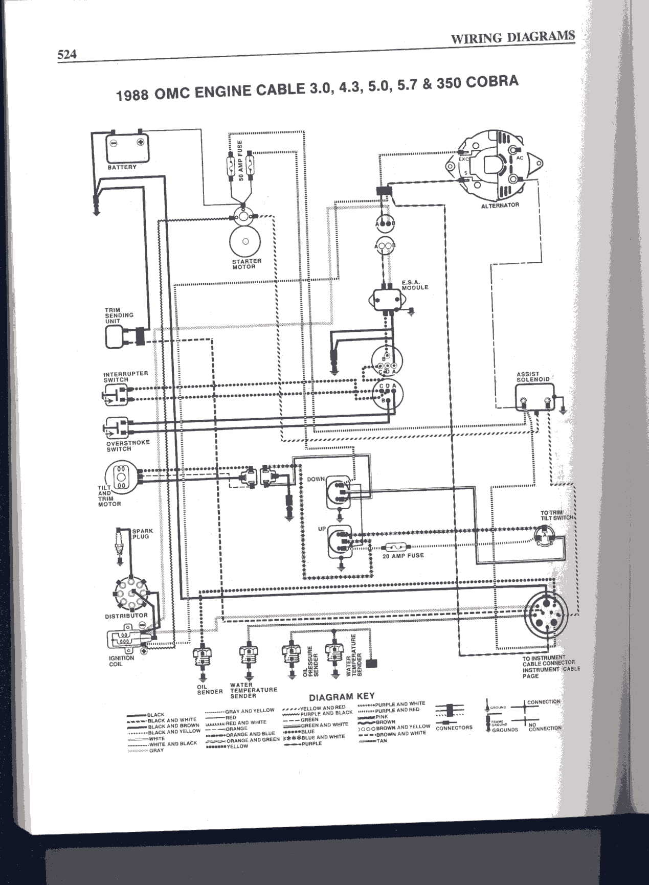 Can Anyone One Tell Me Where To Find A Color Coded Wire Diagram For Omc Marine Alternator Wiring Graphic