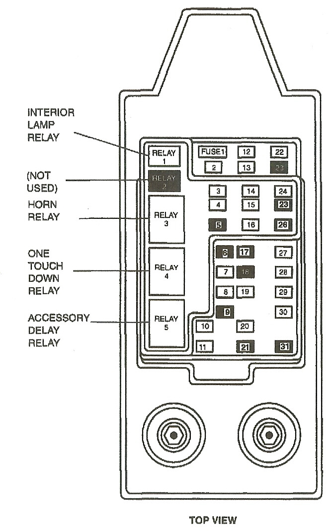 Centaral Fuse Box on 2000 ford f 250 wire diagram for lights