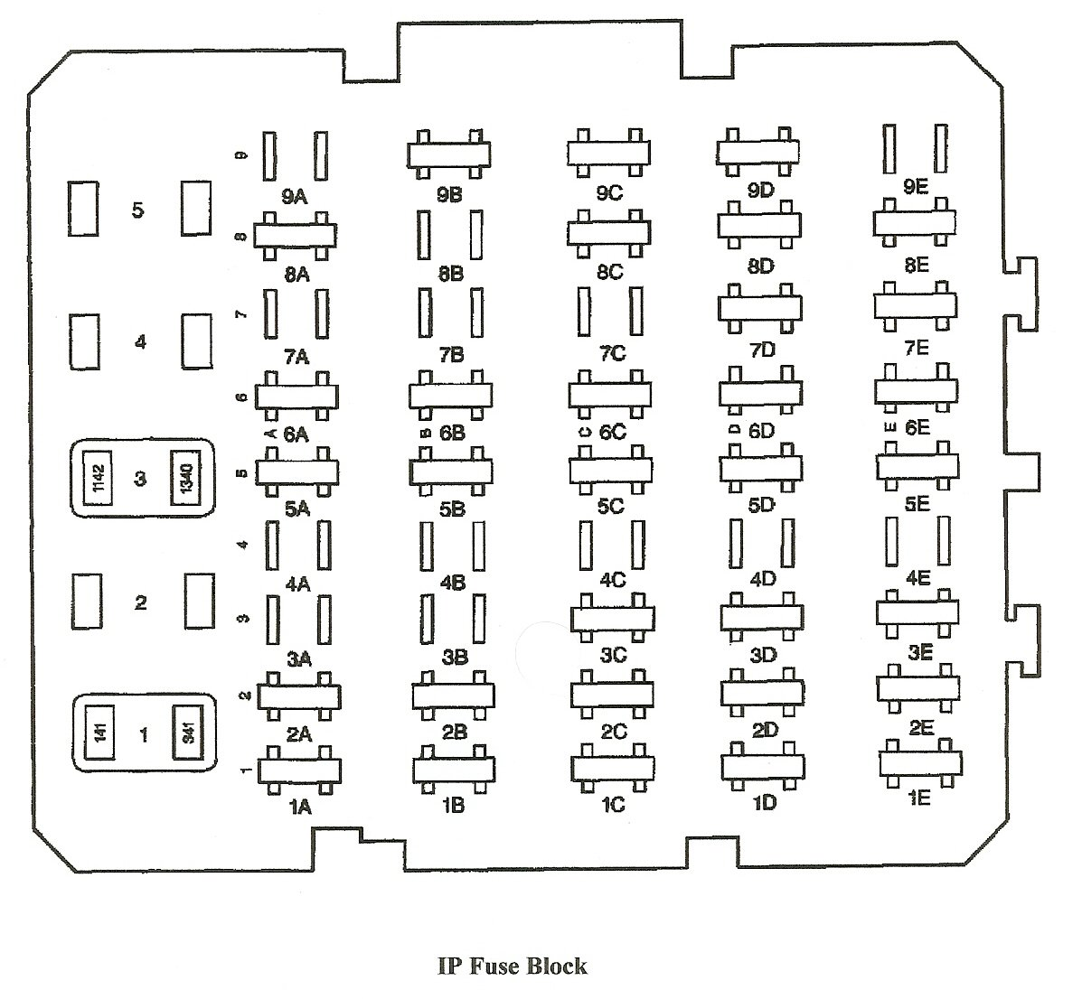 buick lesabre fuse panel diagram